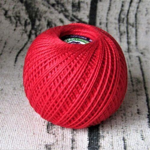 Красные нитки для вязания 14